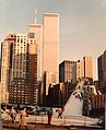 World Team Masters 1995 in New York - Battery park vor dem World Trade Center.jpg