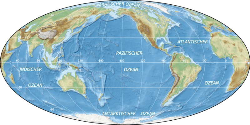 File:World oceans map mollweide de.png