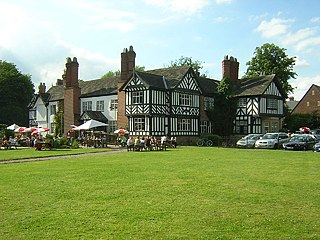 Worsley Old Hall grade II listed pub in Salford, United kingdom