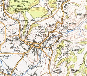 Wotton-under-Edge - A map of Wotton-under-Edge from 1946