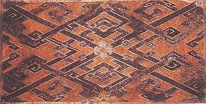Silk Road - Woven silk textile from Tomb No. 1 at Mawangdui, Changsha, Hunan province, China, dated to the Western Han Era, 2nd century BCE