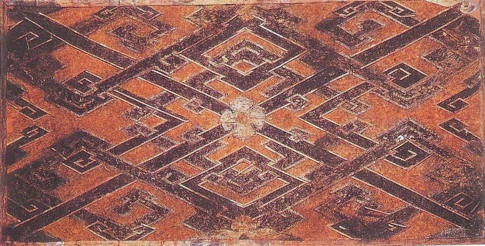 Woven silk, Western Han Dynasty