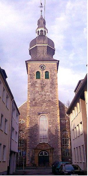 Emil Frommel - Alte Kirche, Frommel's parish in Barmen.
