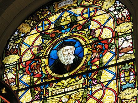 A stained glass window in Wycliffe College Chapel, Toronto Wycliffecollege toronto chapel1.jpg