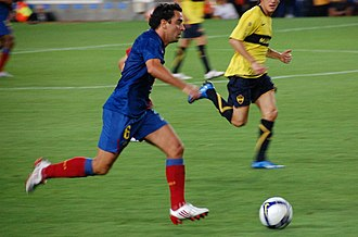 Xavi - Xavi in action for Barcelona in 2008.