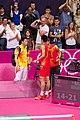 Xia Xuanze coached Chen Long in Olympics Games 2012.jpg