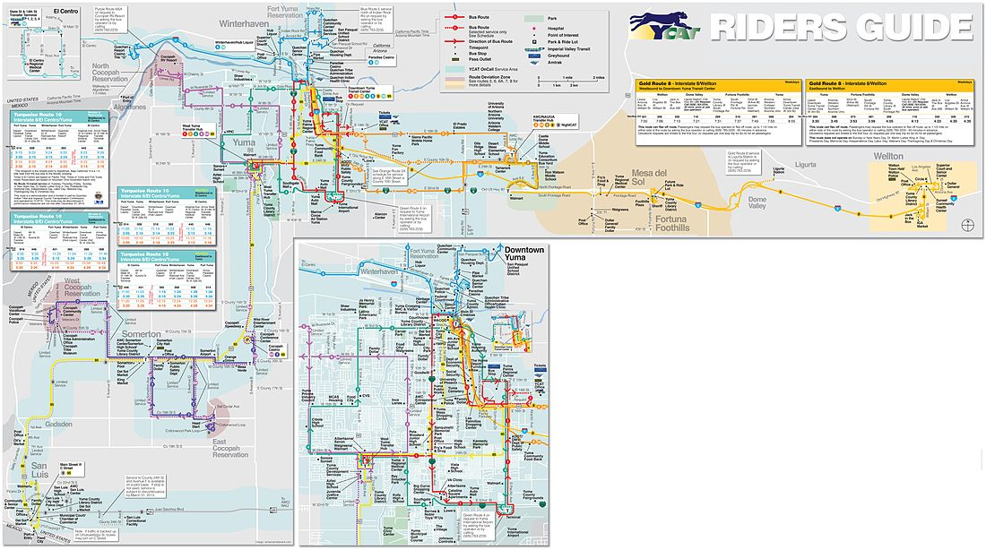 YCAT System Route Map - Effective January 14, 2013