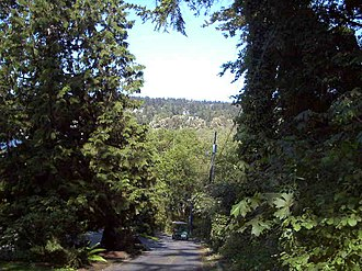 Yarrow Point, Washington - Image: Yarrow Pt NE 42nd Street Looking East