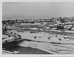 Sultan's Pool - Yemin Moshe, with Birket es-Sultan in foreground, 1920s