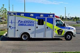 Paramedics in Canada - A York Region Paramedic Services ambulance