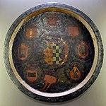 Zanobi poggini, scudo coi sette stemmi delle maggiori istituzioni di prato, 1545-1555, da osp. misericordia.jpg