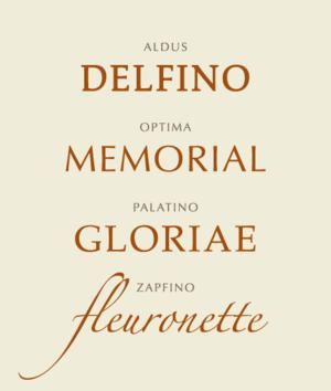 Hermann Zapf - Specimens of typefaces designed by Zapf