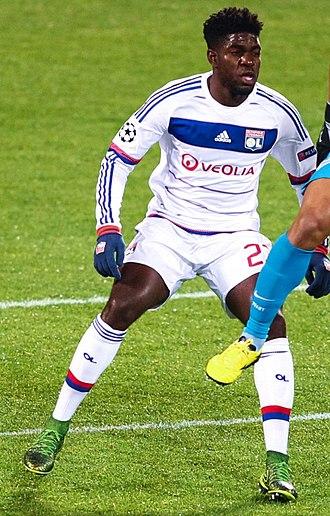 Samuel Umtiti - Umtiti playing for Lyon against Zenit in November 2015