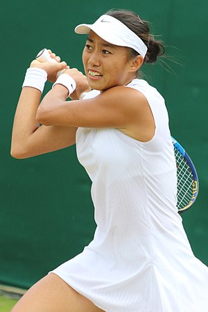 Zhang Shuai (tennis) - Zhang at the 2017 Wimbledon Championships