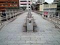 Zhonghua Road footbridge chairs, Taipei City 20120218.jpg