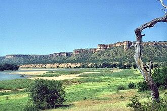 Gonarezhou National Park - Image: Zimbabwe Gonarezhou Landscape Chilojo Cliffs