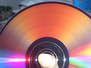 Constant linear velocity - The Zone-CLV recording strategy is easily visible after burning a DVD-R