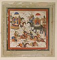 """Gav and Talhand in Battle"", Folio from a Shahnama (Book of Kings) MET sf20-120-242.jpg"