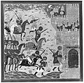 """Kai Khusrau, Gudarz and Giv Capturing the Demon's Fortress, Bahman (?)"", Folio from a Shahnama (Book of Kings) MET 47058.jpg"