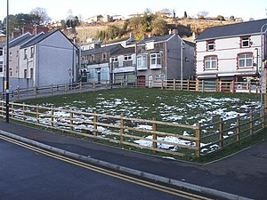 """Keep off the grass"", Llanhilleth - geograph.org.uk - 1157326.jpg"
