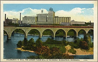 "Pillsbury Company - Postcard featuring Pillsbury with the caption, ""the Largest Flour Mill in the World, Minneapolis, Minnesota"