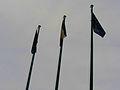""" 12 - ITALY - Flag of Italy and European Union.JPG"