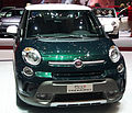 """ 13 - Italian fashion SUV - Fiat 500L Trekking front grey and green.jpg"