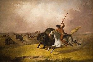 English: 'Buffalo Hunt on the Southwestern Pra...