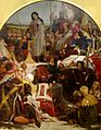 'Chaucer at the Court of Edward III', oil on canvas painting by Ford Madox Brown, 1847-1851, Art Gallery of New South Wales.jpg