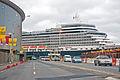 'Queen Elizabeth' arriving Wellington, New Zealand, 19th. Feb. 2011 - Flickr - PhillipC (1).jpg