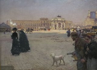 Place du Carrousel and Tuileries in Ruins