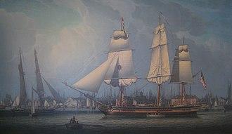 Robert Salmon - Wharves of Boston, 1829