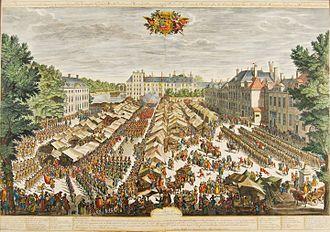 Buitenhof (The Hague) - Fair on the Buitenhof in 1686.