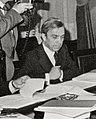 (García Añoveros) Leopoldo Calvo Sotelo preside la reunión del Consejo de Ministros. Pool Moncloa. 27 de noviembre de 1981 (cropped).jpeg