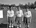 (Opdracht Telegraaf) Hockey Holland tegen Poland. Drie broeders Flink van links , Bestanddeelnr 907-7830.jpg