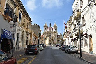 Żabbar - Sanctuary Street, leading to the Żabbar Parish Church