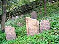 Židovský hřbitov Písková Lhota detail náhrobků 2.JPG