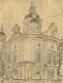 Архитектурне обличчя Полтави. 1919. №4. Собор. Вівтарна абсіда.png