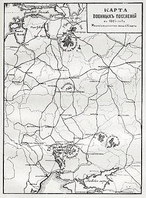Military settlement - Image: Карта к статье «Военные поселения». Военная энциклопедия Сытина (Санкт Петербург, 1911 1915)