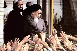 Ruhollah Khomeini's life in exile - Khomeini with people