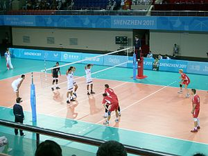 2011 Summer Universiade - Image: 深圳大运会挪威对墨西哥男子排球赛