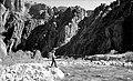 01368 Grand Canyon Historic - Fishing on Bright Angel Creek c. 1940 (4738929643).jpg