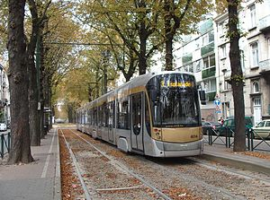 Brussels tram route 3 - T4014 at Berkendael.