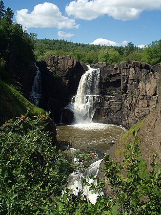 Grand Portage State Park - High Falls of the Pigeon River in Grand Portage State Park
