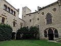 065 Castell de Santa Florentina (Canet de Mar), pati d'armes, angle nord-est.JPG