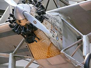 Perlée - Lindberg's Spirit of St. Louis with its perlée-finish sheetmetal nose panels.