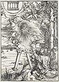 10. Albrecht Dürer, Apokalypsa, VIII. Sv. Jan hltající knihu, Národní galerie v Praze.jpg