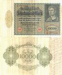 1922年1月19日発行の1万マルク紙幣