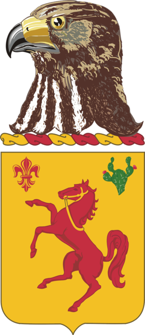113th Cavalry Regiment - Coat of arms