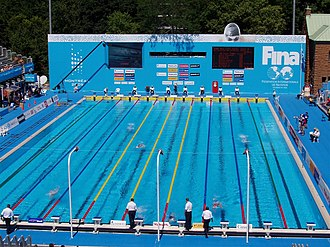 Swimming at the 2005 World Aquatics Championships - Swimming competition pool from 2005 Worlds.